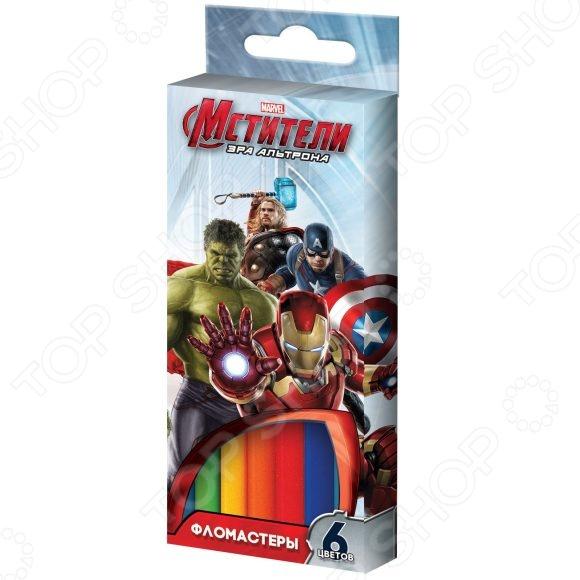 Набор фломастеров Росмэн Marvel «Мстители»