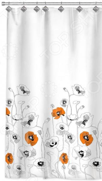 Штора для ванной Valiant «Маки» декоративные перегородки для зонирования комнаты калуга
