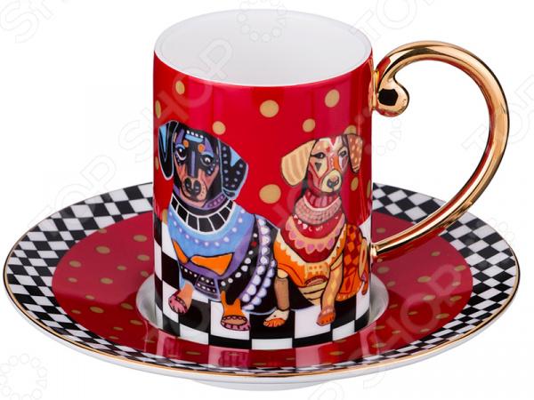 Кофейная пара Lefard «Навия-рэд» 22-1093