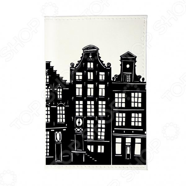Обложка для паспорта Mitya Veselkov «Домики Амстердама» OZAM427 часы домики амстердама mitya veselkov часы домики амстердама