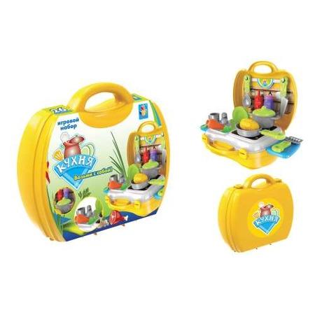 Купить Игровой набор для ребенка 1 Toy в чемоданчике «Кухня»