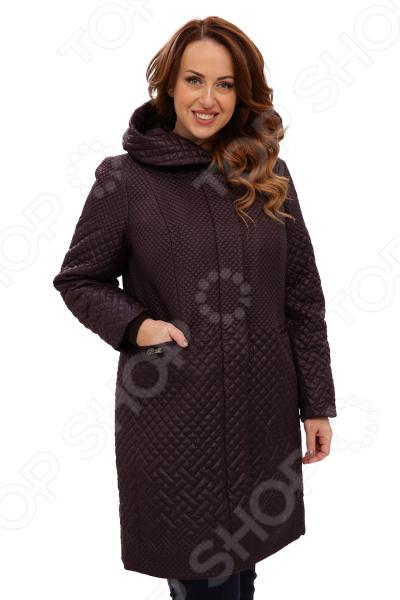 Пальто D`imma «Далия». Цвет: баклажановый цена