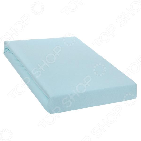 Простыня на резинке Tete-a-Tete. Цвет: голубой