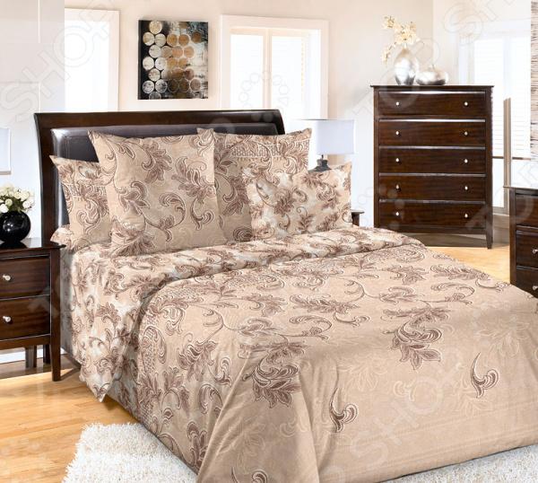 Комплект постельного белья Белиссимо «Санта-Мария». Цвет: коричневый