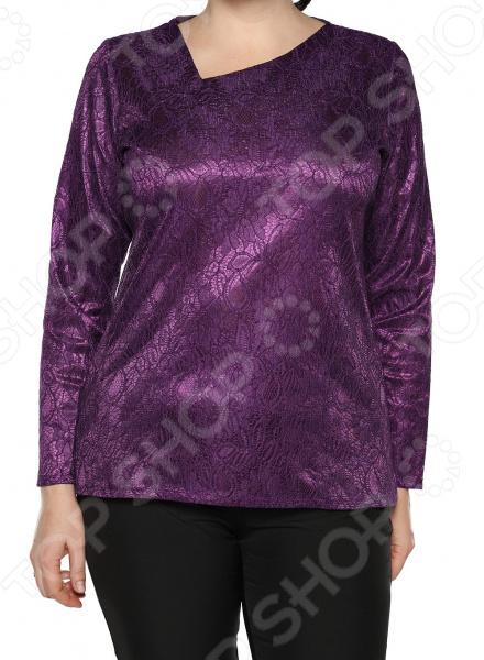 Блуза Jenks «Счастливое настроение». Цвет: фиолетовый блуза apart блуза