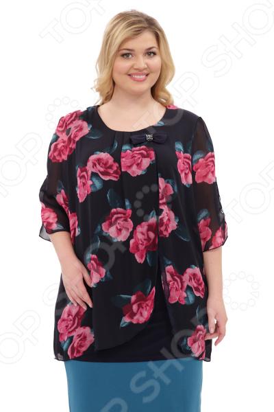 Туника Laura Amatti «Шарлота». Цвет: малиновый юбка laura amatti изабелина цвет бордовый