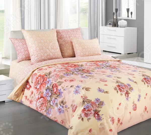 Комплект постельного белья Королевское Искушение с компаньоном «Карамель» комплект постельного белья королевское искушение итальянка цвет розовый