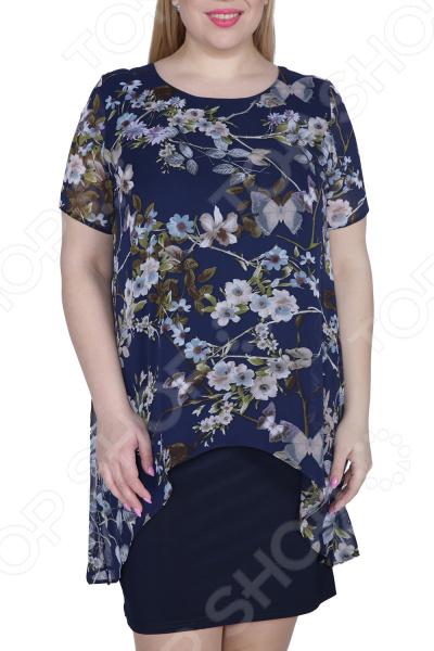 Платье ТРЕНД «Стихия женщины». Цвет: темно-синий платье тренд стильный силуэт цвет бордовый