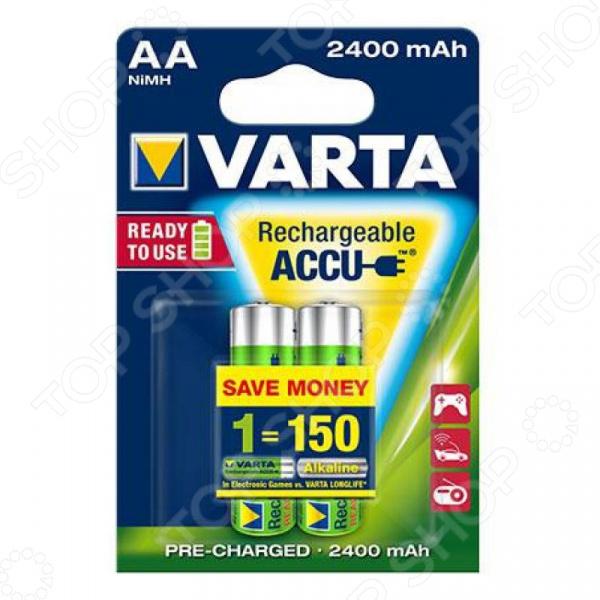 Батарея аккумуляторная VARTA AA R2U 2400 мАч 2 шт. аккумуляторная батарея восток ск 1209 12v9ah