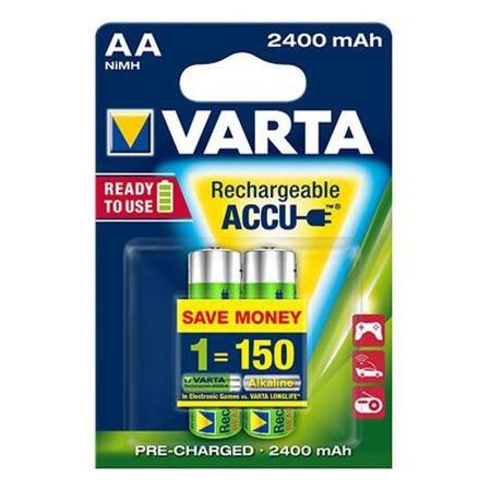 Батарея аккумуляторная VARTA AA R2U 2400 мАч 2 шт.
