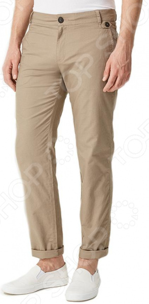 Брюки Finn Flare S16-21009. Цвет: светло-коричневый брюки finn flare s16 24008 цвет светло серый