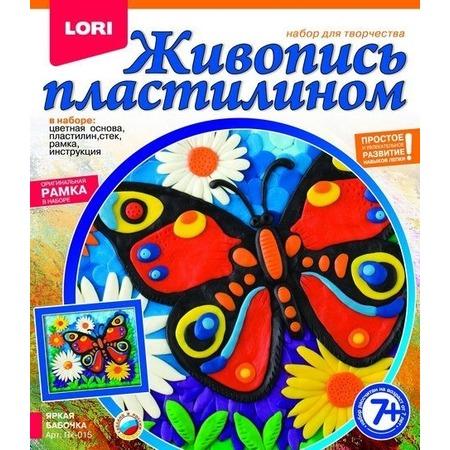 Купить Набор для создания картины из пластилина Lori «Яркая бабочка»