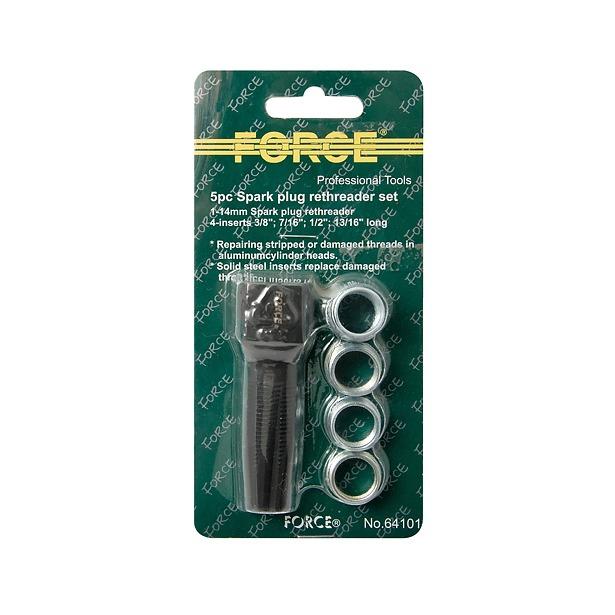 фото Набор слесарный для восстановления резьбы свечи зажигания Force F-64101