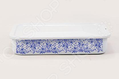 Форма для холодца с крышкой Лысьвенские эмали «Морозко» лоток для холодца лысьвенские эмали 1 5 л