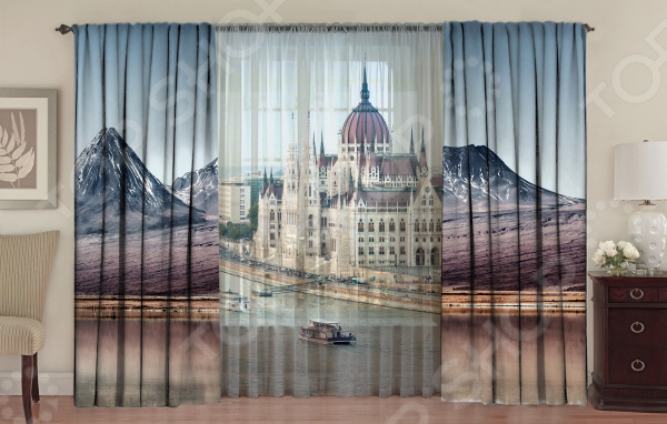 Комплект фотоштор с тюлем ТамиТекс «Парламент на Дунае»