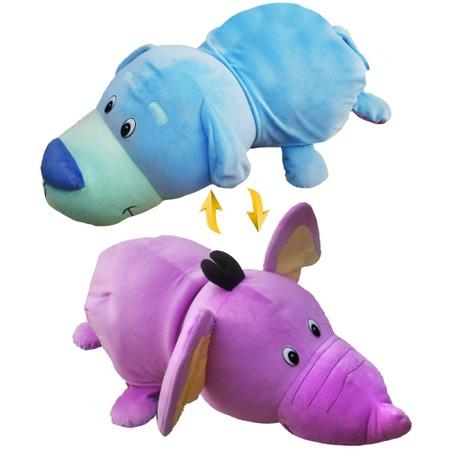 Купить Мягкая игрушка 1 Toy «Вывернушка 2 в 1: Голубой Щенок-Фиолетовый Слон»