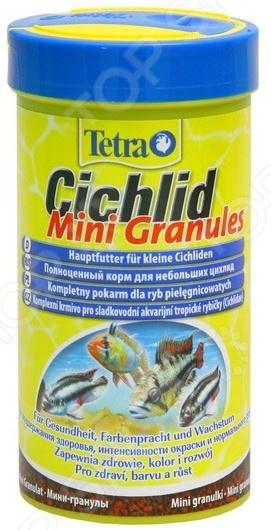 Корм для маленьких и карликовых цихлид Tetra Cichlid Mini Granules корм tetra cichlid xl flakes premium food for all cichlids крупные хлопья для всех видов цихлид 1л 204294