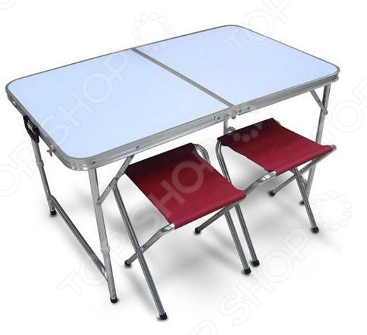 Набор: стол складной и стулья PT-019: 3 предмета sport life стол складной pt 021