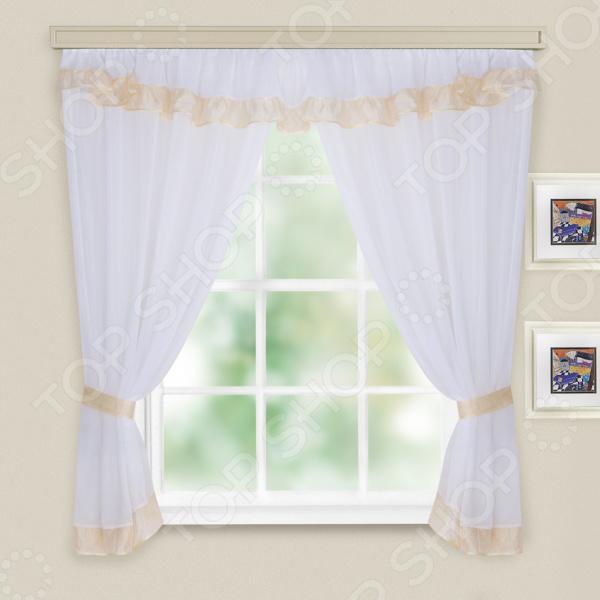 Комплект легких штор WITERRA «Акцент». Цвет: белый, молочный