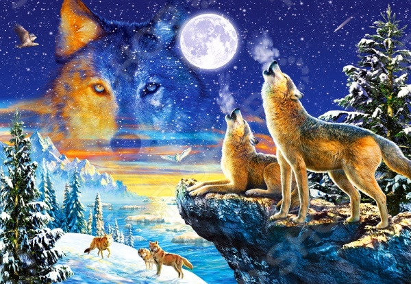 Пазл 1000 элементов Castorland «Волки»