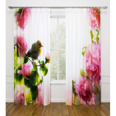 Купить Фотошторы Стильный дом «Птичка в цветах»