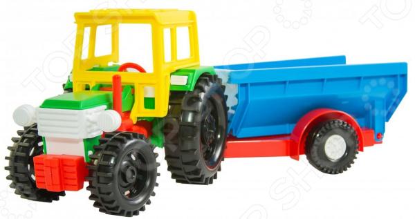 Трактор игровой Wader с прицепом мир отечественных моделей трактор мтз 82 с прицепом