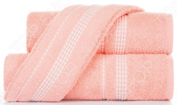 Полотенце махровое Aquarelle «Лето». Цвет: персиковый