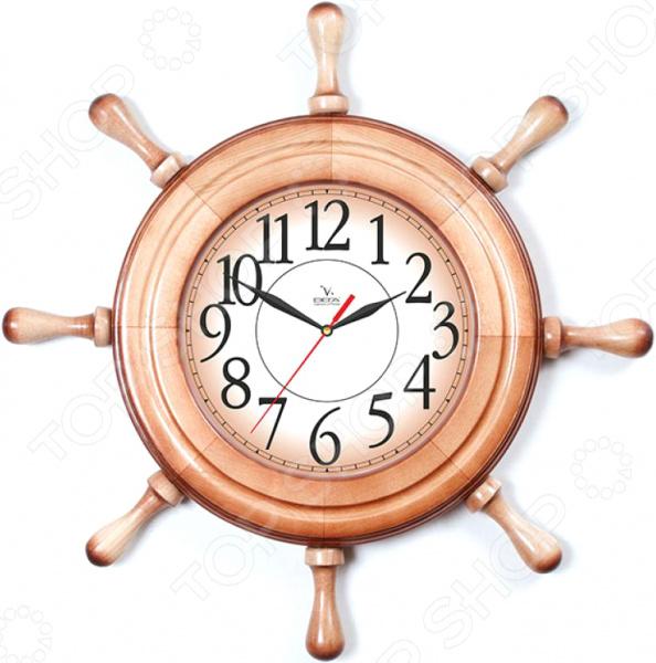 Часы настенные Вега Д 7 НД 1 «Штурвал. Арабская классика»