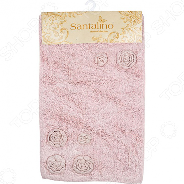 Коврик для ванной комнаты Santalino «Розанна» 852-012 аксессуары для ванной и туалета santalino коврик для ванной carol 46х75 см