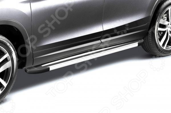 Комплект защиты штатных порогов Arbori Luxe Silver 1700 для Mitsubishi Outlander, 2014 комплект адаптеров атлант 8858