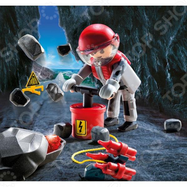 Конструктор игровой Playmobil «Экстра-набор: Рок-бластер со щебнем»