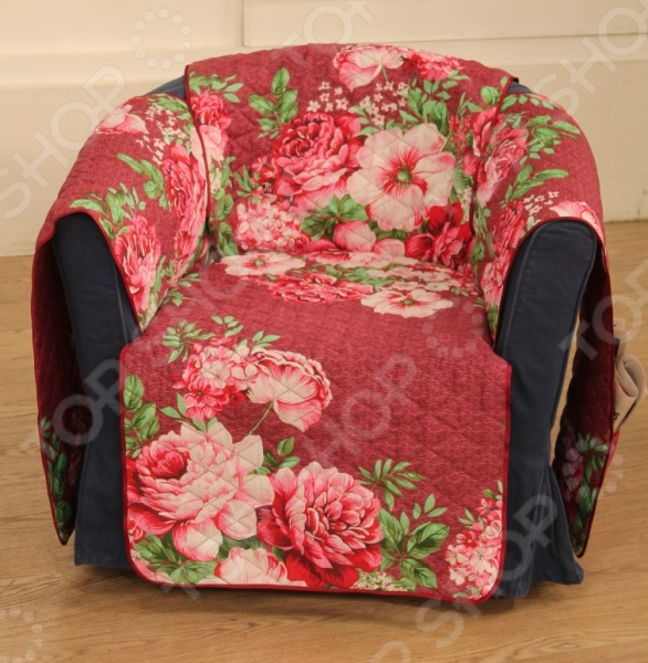 Накидка на кресло «Городские цветы»