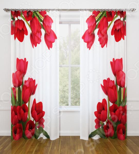 Фотошторы Стильный дом «Тюльпаны»