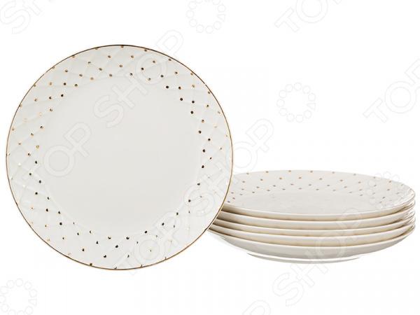 Набор десертных тарелок Lefard «Горошек»