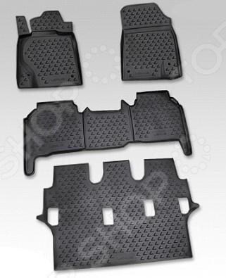 комплект ковриков в салон автомобиля novline autofamily lexus lx 470 1998 2007 внедорожник цвет черный Комплект ковриков в салон автомобиля Novline-Autofamily Lexus LX 570 2007-2012