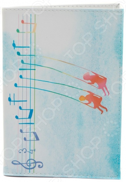 Обложка для паспорта кожаная Mitya Veselkov «Ноты любви» обложка для паспорта кожаная mitya veselkov ежик с веточкой