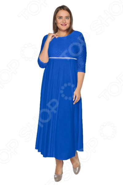 цена Платье Pretty Woman «Торжественный вечер». Цвет: васильковый онлайн в 2017 году