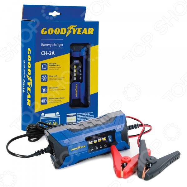 Устройство зарядное для автомобильных аккумуляторов Goodyear CH-2A зарядное устройство для автомобильных аккумуляторов berkut smart power sp 4500