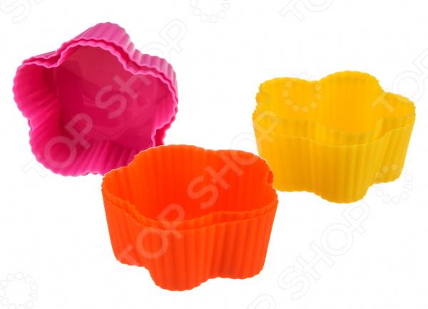 Набор форм для выпечки кексов Agness «Цветочки» 710-116