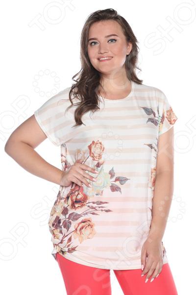 Блуза NOVA STYLE «Манящий взгляд». Цвет: бежевый multi function green