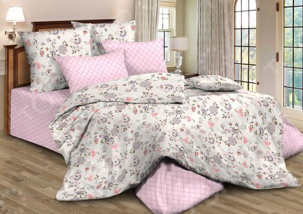 Фото - Комплект постельного белья Guten Morgen 795. Цвет: розовый постельное белье этель кружева комплект 2 спальный поплин 2670978