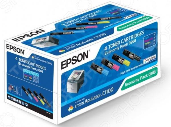 Комплект тонер-картриджей Epson S050268 для AcuLaser C1100