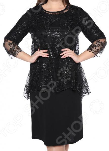 Платье Blagof «Царские узоры». Цвет: черный
