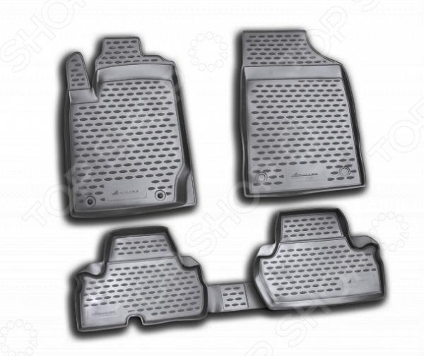 Комплект ковриков в салон автомобиля Novline-Autofamily Mitsubishi L200 2D 2010-2015 комплект 3d ковриков в салон автомобиля novline autofamily ford mondeo 2015