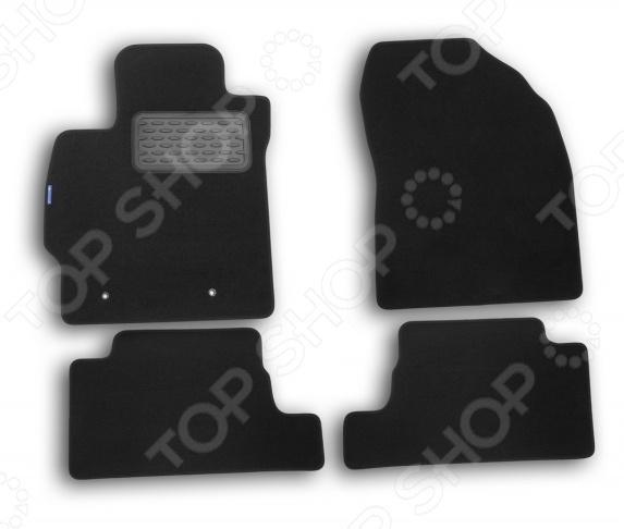 Комплект ковриков в салон автомобиля Novline-Autofamily Toyota Auris 2010 хэтчбек. Цвет: черный недорго, оригинальная цена