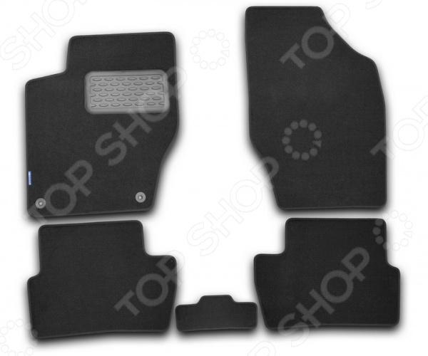 Комплект ковриков в салон автомобиля Novline-Autofamily Opel Astra J GTC 2012 хэтчбек. Цвет: черный