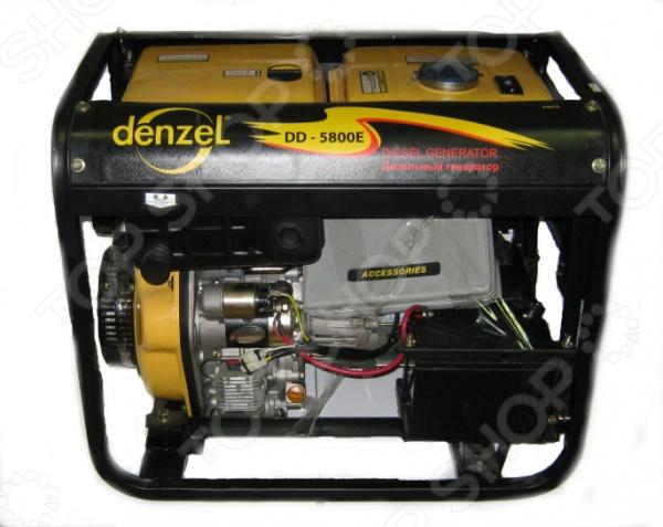 Генератор дизельный Denzel DD5800Е простой и удобный источник энергии, который может использоваться с фазозависимым оборудованием, например газовыми котлами. Генератор с максимальной мощностью 5 кВт и номинальной 4,5 кВт, может быть также использован в качестве аварийного или автономного источника электроэнергии для питания бытовых электроприборов или электроинструментов при нестабильной работе электросети. С его помощью вы сможете поддерживать стабильную работу современного холодильника при условии, что он будет потреблять в среднем 75 Вт ч. Дизельный генератор оснащен четырехтактными двигателями с мощностью 9,4 л с. Объем заправочной емкости составляет 12,5 литров, тогда как расход топлива при номинальной нагрузке будет достигать всего 1,2 л ч. Генератор дизельный Denzel модели DD5800Е может запускаться как вручную, так и при помощи электростартера. Для более удобного подключения предусмотрены три розетки типа IP44. Каждый разъем имеет современную защиту от перегрузок, что значительно увеличивает срок службы устройства. Уровень шума данной модели не превышает 85 Дб, поэтому вы можете не беспокоиться о комфорте вашей семьи. Для большей мобильности и легкой транспортировки корпус генератора оснащен транспортировочными колесами.