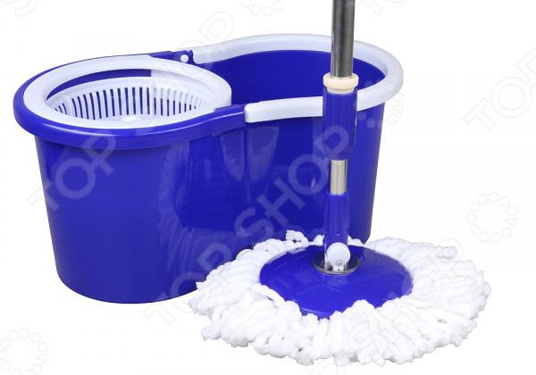 Комплект для уборки полов: швабра и ведро с отжимом Rosenberg RPL-800004