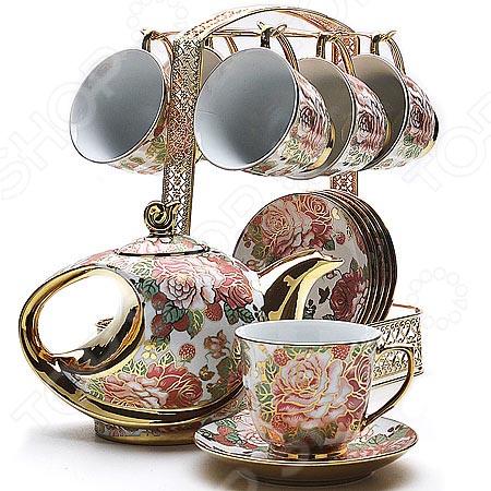 Чайный набор Loraine 22540 сервиз чайный loraine на подставке 13 предметов 43285
