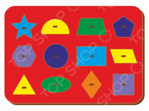 Игра развивающая WoodLand «Рамка-вкладыш: Монтессори геометрия 3»